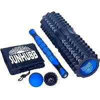 Kit de rodillo de espuma de alta densidad El juego incluye rodillo de espuma, palillo del rodillo del músculo, LaCrosse y de punta Balls & Llevar Terapia Bag-física, tejido profundo, alivio dolor.