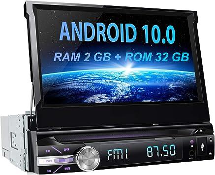 AWESAFE Android 10.0 [2GB+32GB] 7 Pulgadas Pantalla Universal 1 DIN Radio, Autoradio 1 DIN con CD DVD/WiFi/Navegador GPS/Bluetooth/Mandos Volantes/RDS/USB/SD/Subwoofer/Mirror Link: Amazon.es: Electrónica