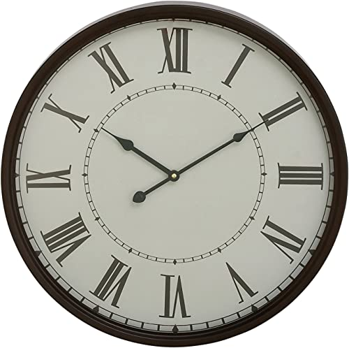 Deco 79 92263 Traditional Black and White Round Analog Wall Clock