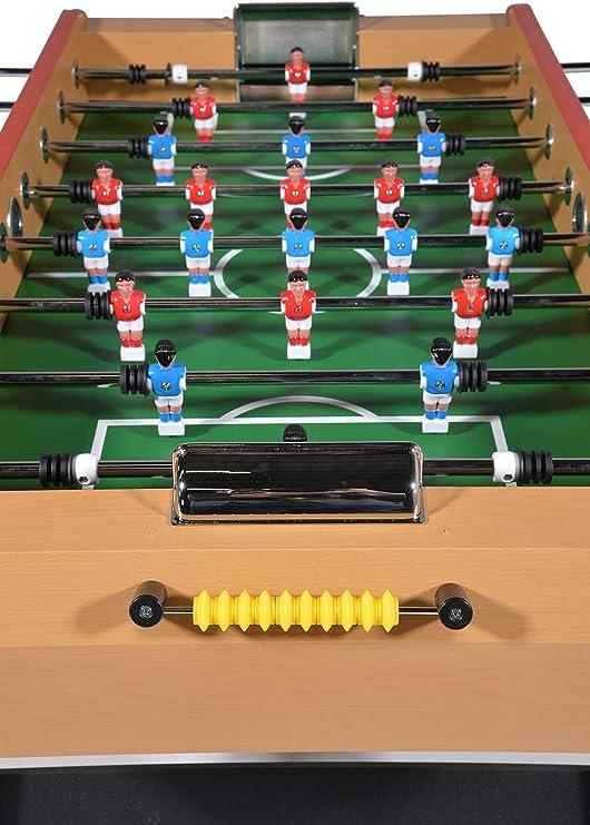 Baby foot -Mesa Futbolin madera -Bar Deluxe Versión Arena -140 x 74 x 86 cm: Amazon.es: Juguetes y juegos