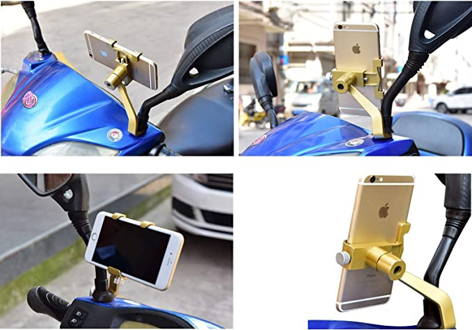 VinAuto Universal Motorcycle Phone Mount ATV/'s Phone Holder for Motorbikes More Jet Skis Fits Most Phones Including Plus Sized 360-Degree Adjustable Side View Mirror Bar Cellphone Holder