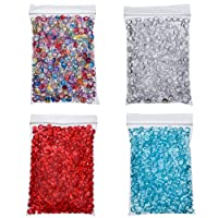 Antner 2000 Pieces Fishbowl Beads Colorful Rice Beads for Crunchy Homemade Slime DIY Crafts, Wedding and Party, 4 Pack, 7.4 Ounces