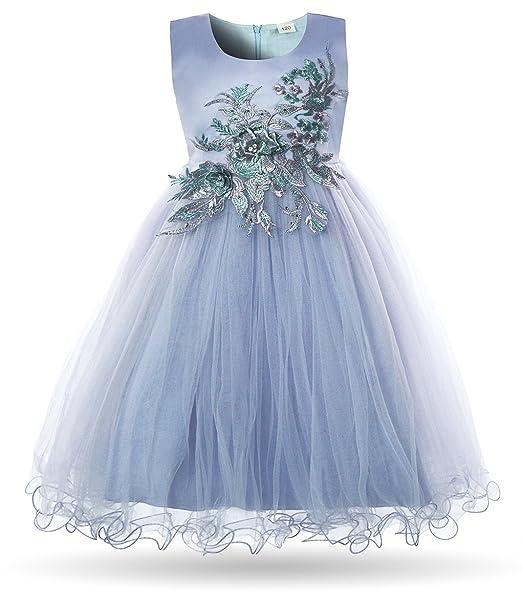 e6e9d4a7c Amazon.com  CIELARKO Girls Dress Flower Appliques Children Wedding ...