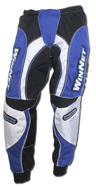 Taglia L WinNet Pantaloni per moto da cross motocross blu