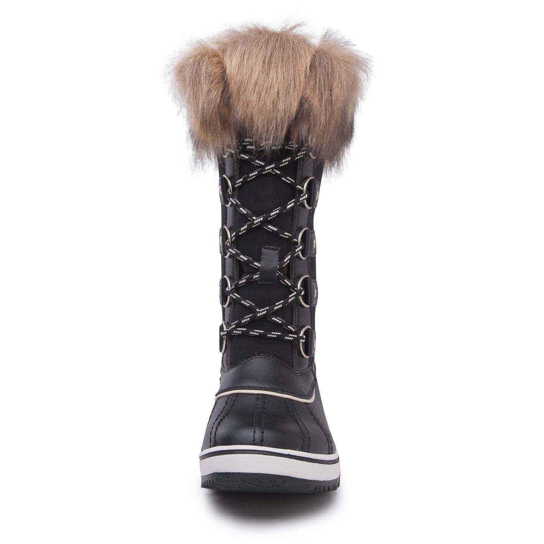 Kingshow Women's Globalwin Waterproof Winter Boots B071JMSXW7 11 B(M) US 1712black