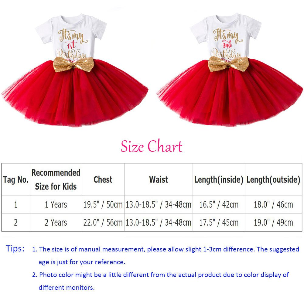 1d482f462 FYMNSI Newborn Baby Girls Its My 1st 2nd Birthday Cake Smash Dress ...