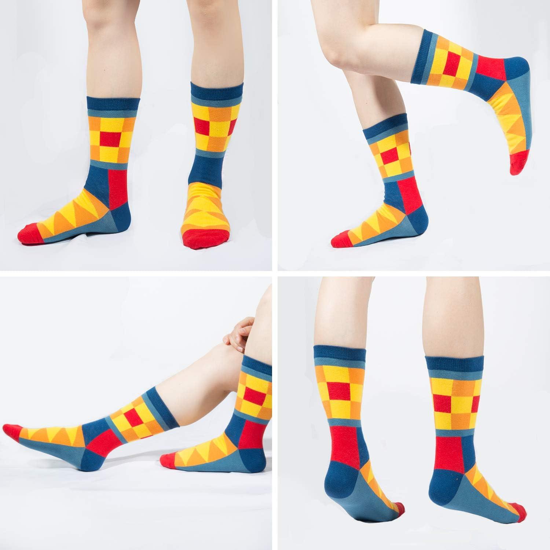 MOOKLIN ROAM 5 pares de Calcetines Estampados Colores Hombres Mujeres Termicos Invierno Divertidos Calcet/ín de Algod/ón Unisex Adulto