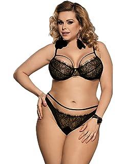 8cc5a493417 comeondear Sexy Bra and Panties Lingerie Lace Babydoll Underwear Nightwear  Sleepwear Hollow-Out Bodysuit for…