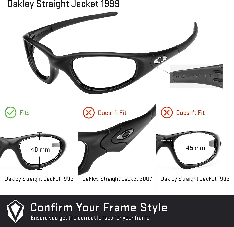Revant Verres de Rechange pour Oakley Straight Jacket (1999) Chromé Noir Mirrorshield - Polarisés Elite
