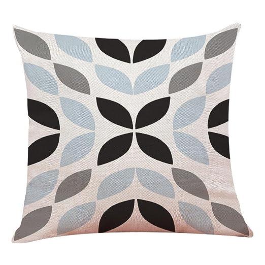 Fundas De Cojines, Xinantime Decoración del hogar Fundas de colchón Funda de Almohada geométrica Simple 45cm x 45cm (A)