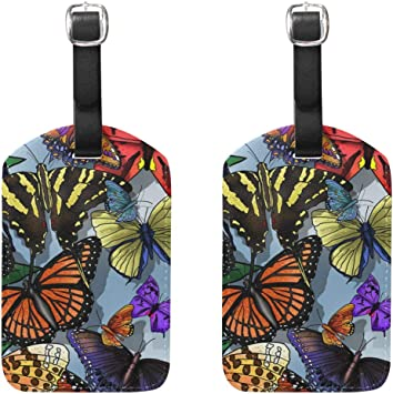 Wild Parrot Luggage Tag Label Travel Bag Label With Privacy Cover Luggage Tag Leather Personalized Suitcase Tag Travel Accessories