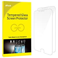 JETech Screen Protector for Apple iPhone 6 and iPhone 6s, Tempered Glass Film, 2-Pack