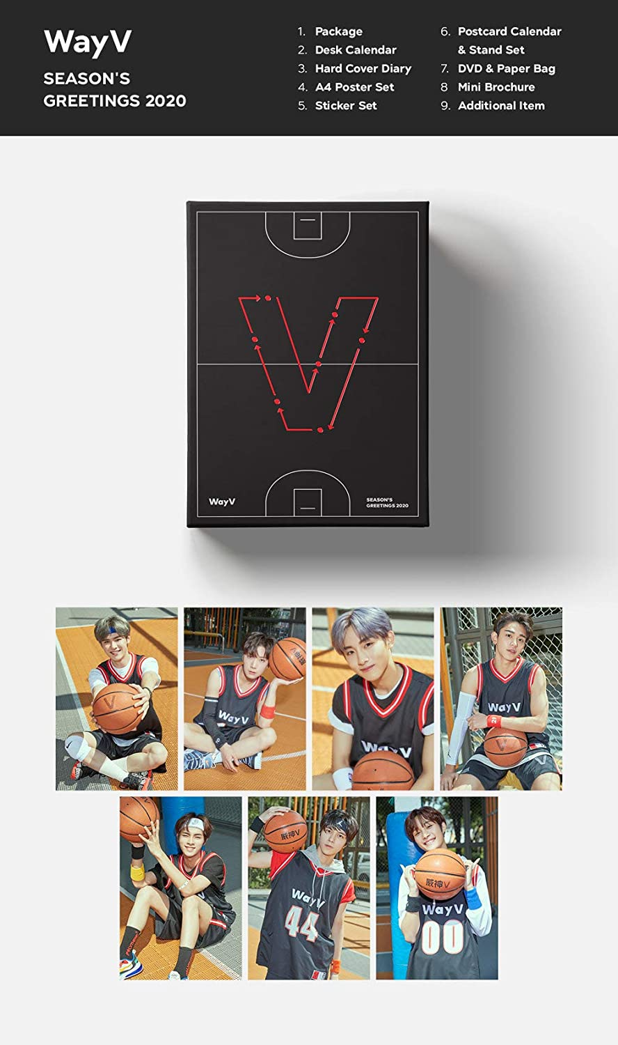 SM Entertainment 2020 WayV Seasons Greetings Caledar Set + DVD + ...