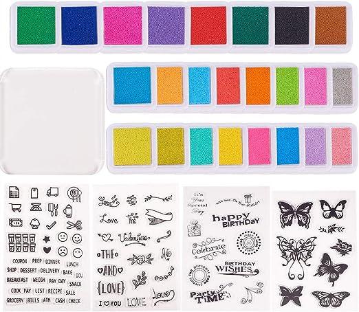 PandaHall Elite Sello de Silicona Transparente, para Album de Recortes, Album de Fotos Decorativos, Hojas de Sello, Color Mezclado, 10~21.5x10~20cm: Amazon.es: Hogar