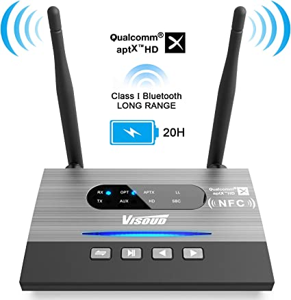 Long Range Wireless Bluetooth Audio Adapter For Streaming Automatic Easy Pairing