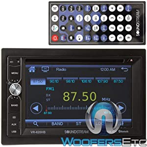 """Soundstream VR-620HB in-Dash 2-DIN 6.2"""" Touchscreen LCD DVD Receiver with Bluetooth"""