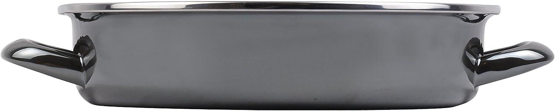 MAGEFESA Glass Tartera Antiadherente Bicapa Reforzado 28 cm Negro Cristal