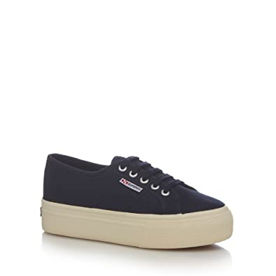 494e3877f05 Superga Womens Navy High Platform Heel Trainers  Amazon.co.uk  Shoes ...