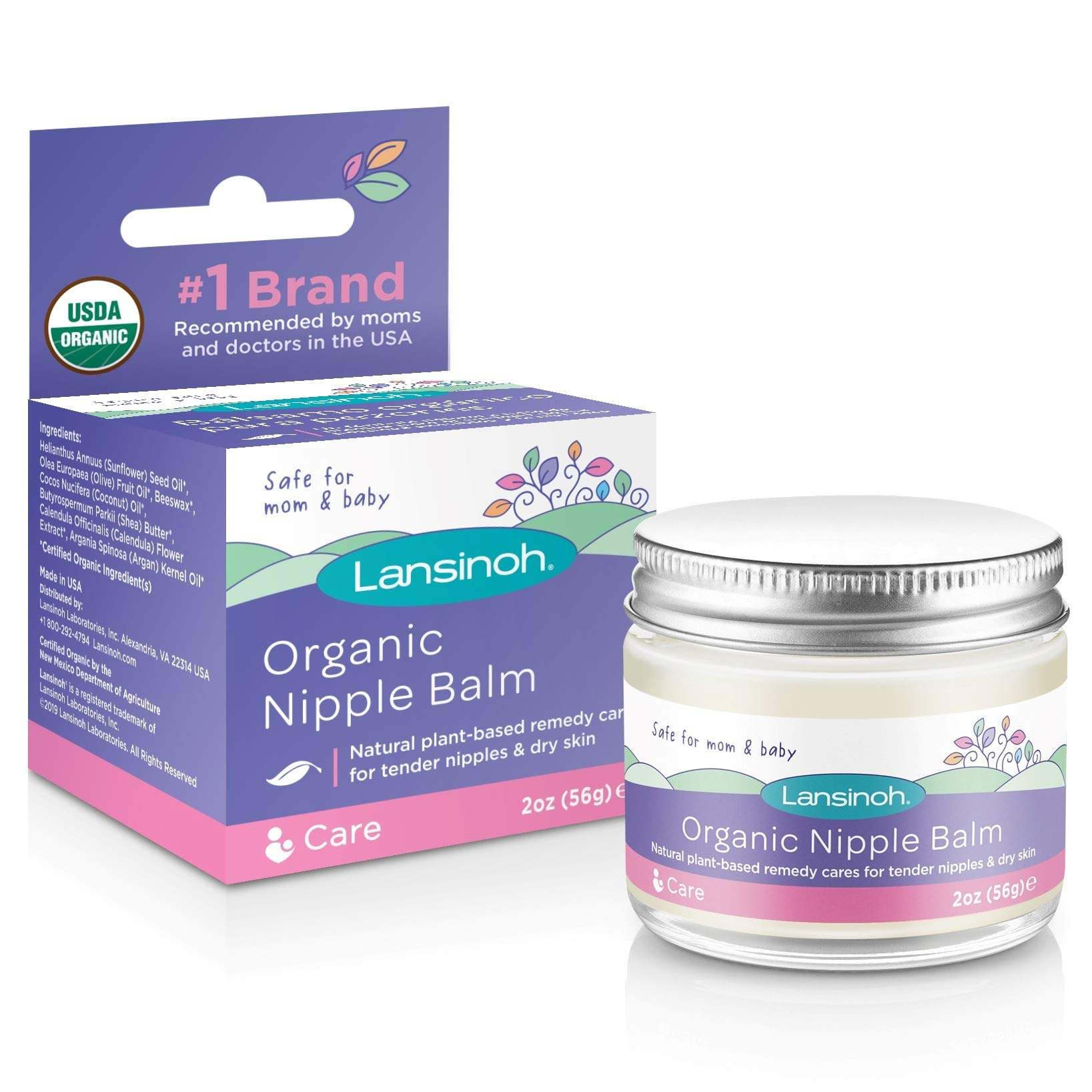 Lansinoh Organic Nipple Cream for Breastfeeding, 2 Ounces by Lansinoh