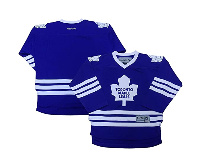 9995836e1 Toronto Maple Leafs Blank Men s Blue Rink Side Home Jersey (Small Medium)