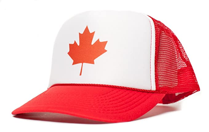 f17929327 Canadian Canada Maple Leaf Flag Unisex Adult Trucker Cap Hat Red ...