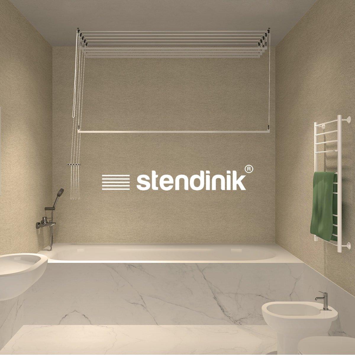 180 cm Stendibiancheria da soffitto sali scendi ultraresistente 5 aste
