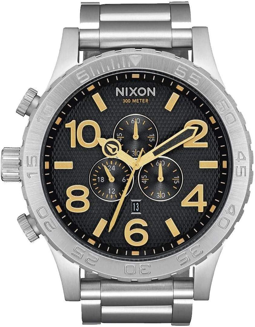 Nixon 51-30 Chrono -Fall 2017- Black Stamped/Gold