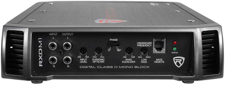 Rockville 1000w Mono Amplifier for Rockford Fosgate R2D4-12 12 Subwoofers 2