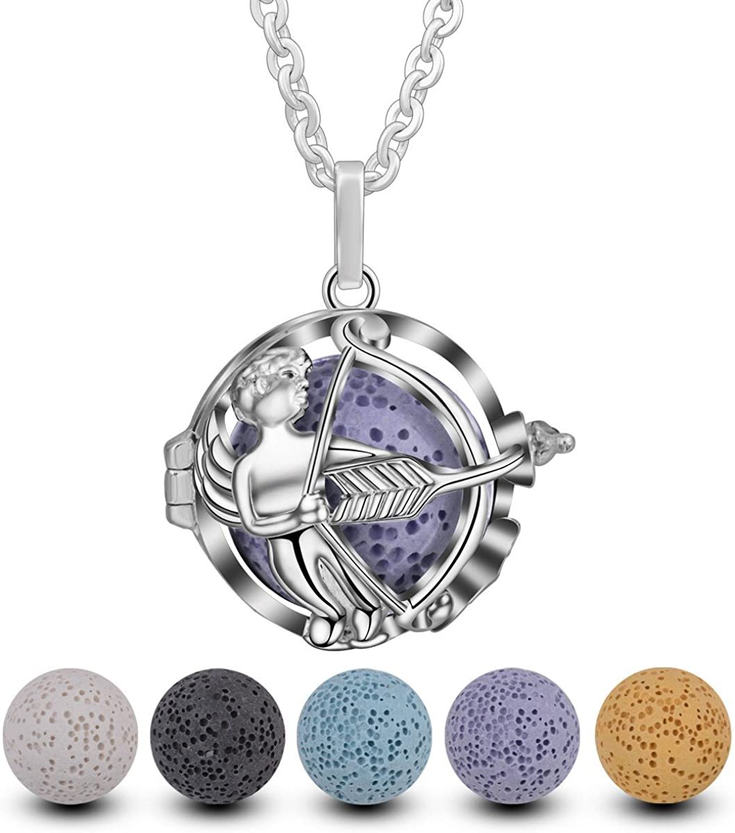 BFF Jewelry Fashion Aromatherapy Essential Oil Necklace Diffuser Locket Necklaces Luck 2018 Pendant
