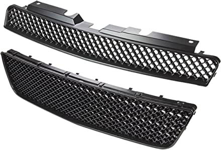 for 06-09 Chevy Impala DNA Motoring GRF-009+010-BK Front Upper+Lower Grille