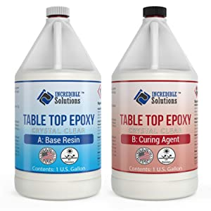 2 Gallon Table Top & Bar Top Epoxy Resin, Ultra Clear Finish, Self Leveling, Perfect for DIY Epoxy Counter Tops, Tabletops & Bars