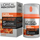 L'Oréal Paris Men Expert Hydra Energetic Crema Idratante Anti-Fatica, con Estratto di Guaranà e Vitamina C, 50 ml
