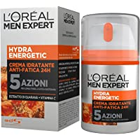 """L'Oréal Paris Men Expert Hydra Energetic Crema Idratante Anti-Fatica, con Estratto di Guaranà e Vitamina C, 50 ml"