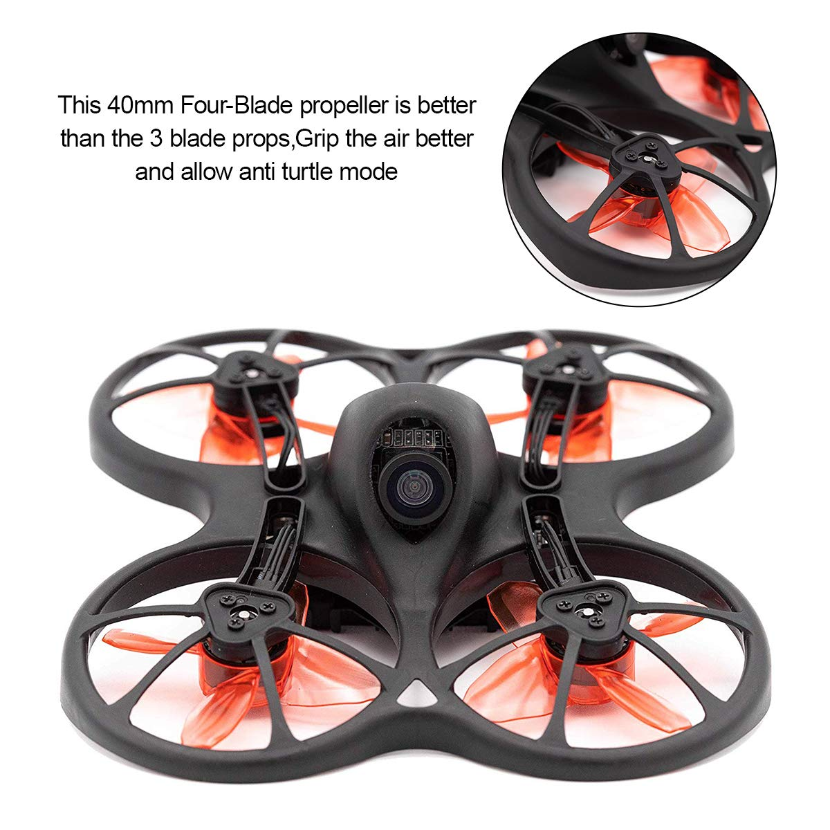 20pcs EMAX Avan Tinyhawk TH Turtlemode Propeller 40mm Four-Blade Props 4 Blade Propellers for 0802 Motor Indoor FPV Racing Drone Like Emax TinyhawkS