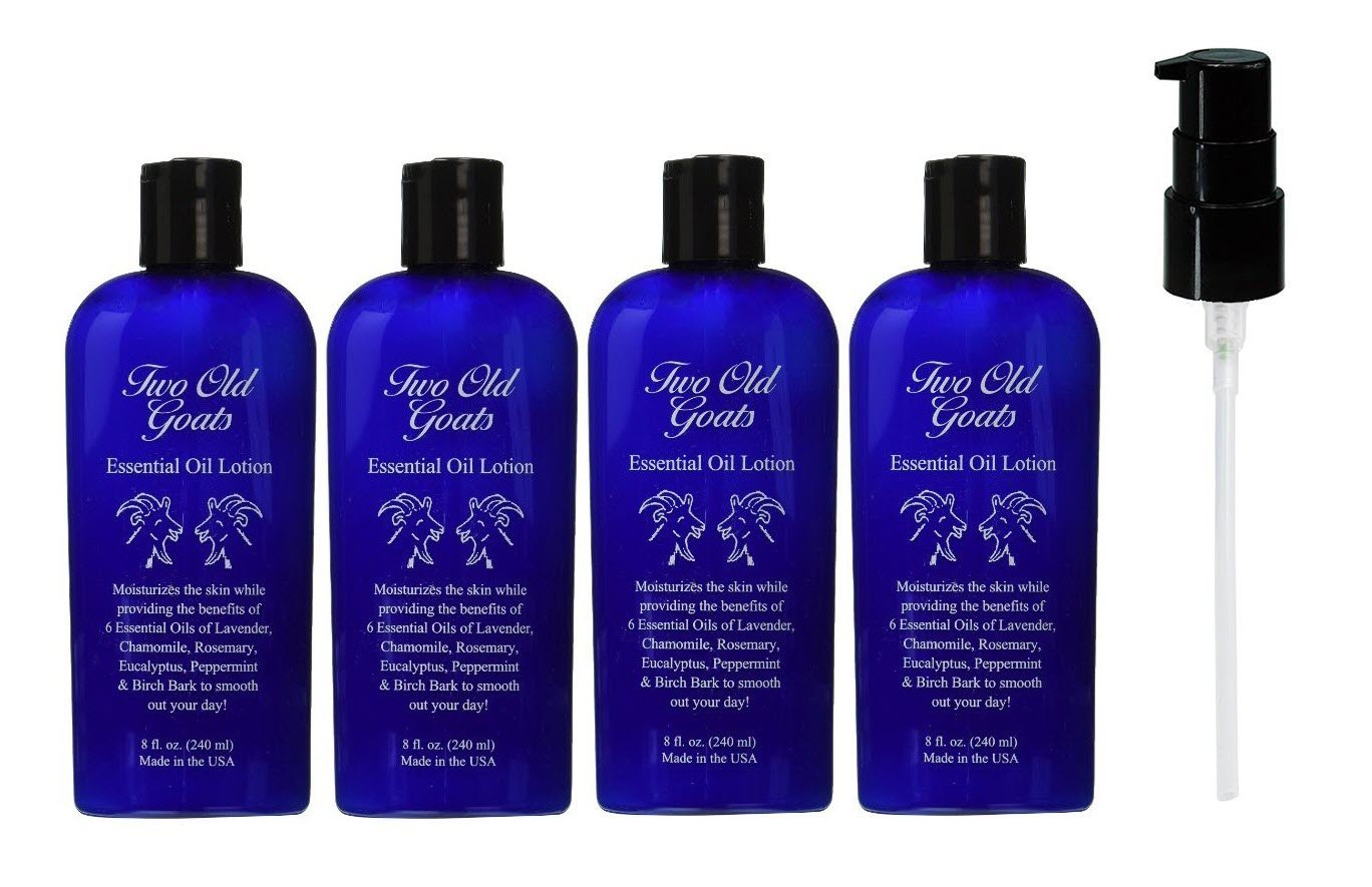 Two Old Goats Essential Lotion, 8 Ounces (4 Pack) by Two Old Goats