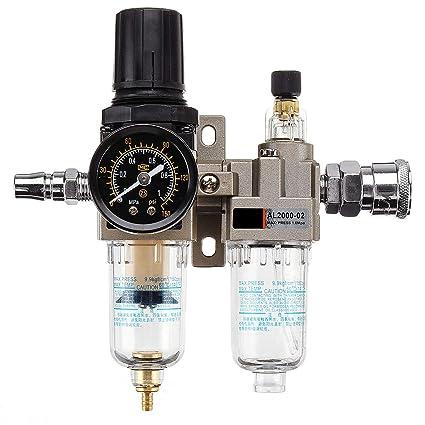 DyNamic 150Psi Manual Neumática Presión Aire Filtro Regulador Compresor Aceite Separador De Agua