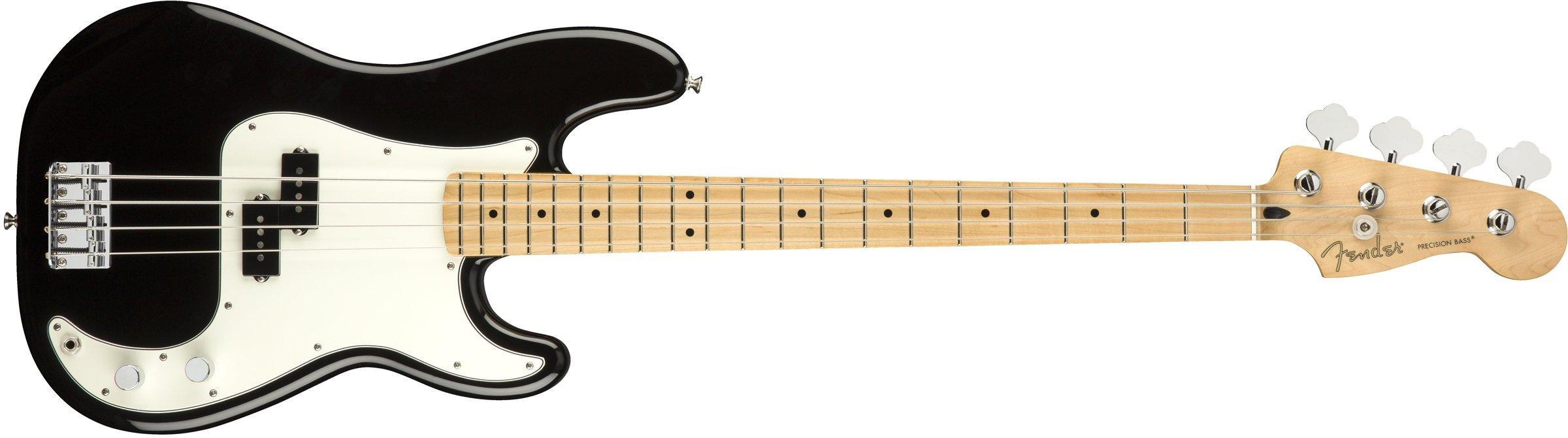 Fender Player Precision Electric Bass Guitar - Maple Fingerboard - Black