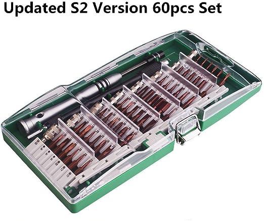 mise à jour version S2 ACENIX ® 60 en 1 Tournevis Précision Ensemble Pour Téléphones