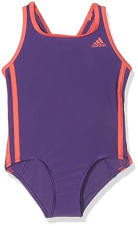 55aeab7ec9 adidas Infinitex Girl's Swimming Costume, Girls, Infinitex, University  Purple/Shock Red