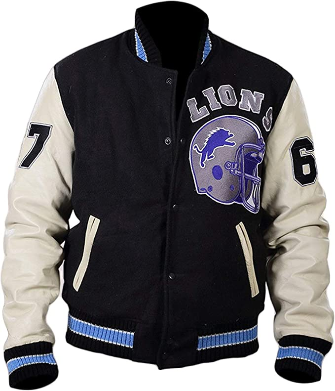 Beverly Hill Cops Axel Foley Eddie Murphy Detroit Bomber Black Wool Jacket for men at Amazon Men's Clothing store