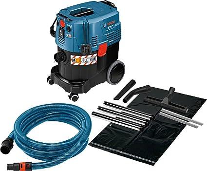 Bosch Professional 06019C3100 Aspiratore Industriale Gas 35 M AFC, Serbatoio da 35 Litri, Tubo Flessibile 5 m, Confezione in Cartone, 1380 W