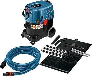 Bosch Professional GAS 35 M AFC - Aspirador seco/húmedo (1380 W, capacidad 35 l, clase polvo M, 254 mbar, manguera antiestática): Amazon.es: Industria, empresas y ciencia