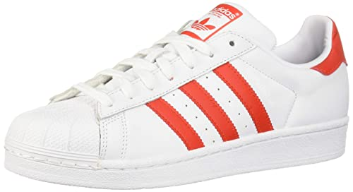 cheap for discount f8fbd a90a1 adidas Originals Womens Superstar Shoes, WhiteActive redBlack, ...