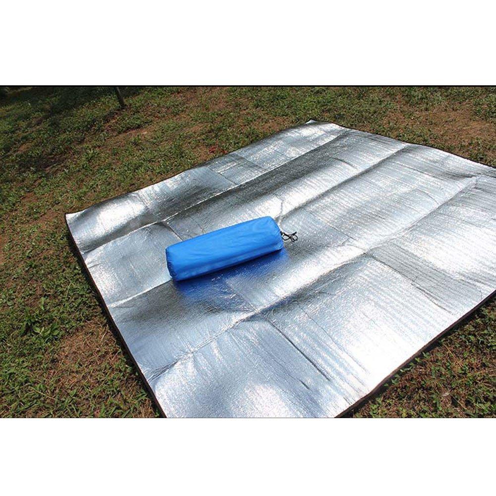 Quaanti Sleeping Mattress Mat Pad Waterproof Aluminum Foil EVA Outdoor Camping Mat Foldable Mattress Folding Picnic Beach Outdoor (XL/2x3M)