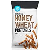 Amazon Brand - Happy Belly Braided Honey Wheat Pretzels, 12oz