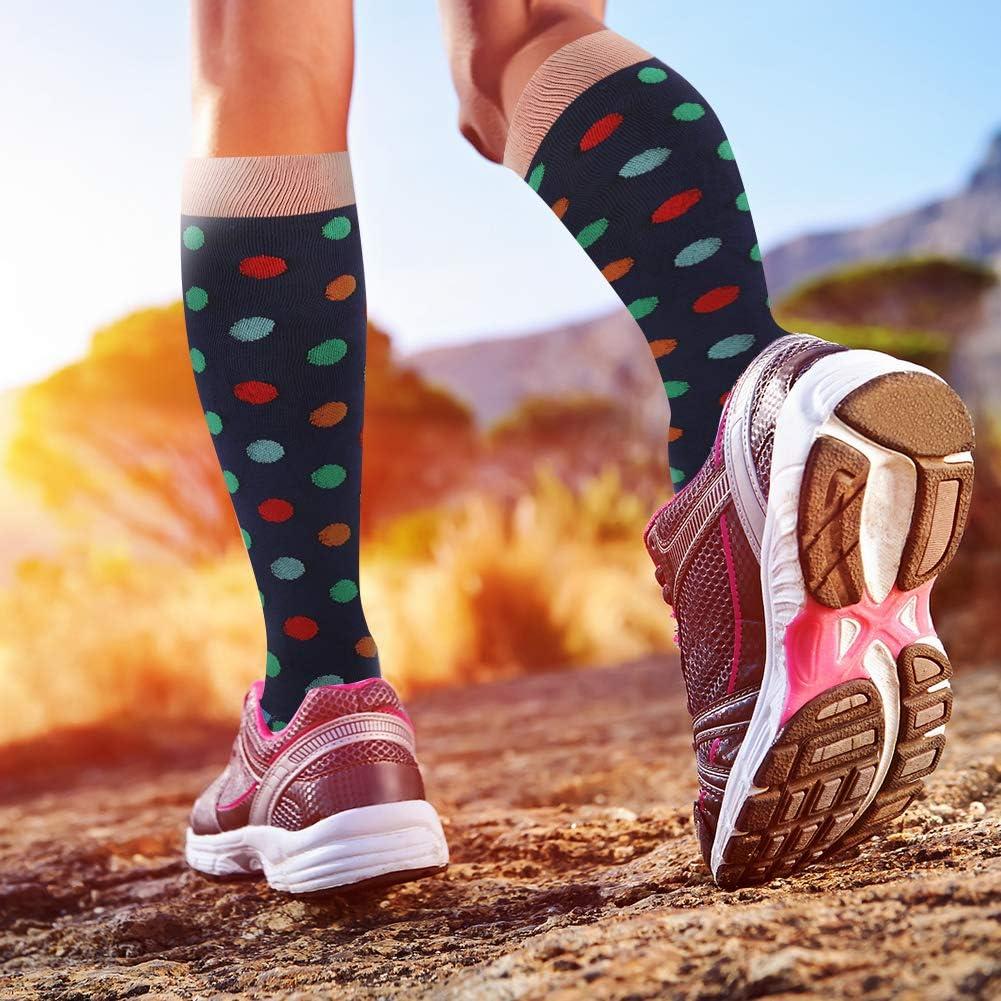 20-30 mmHg Flight Nurses for Men /& Women Travel 3 Pairs Best Stockings for Running Compression Socks