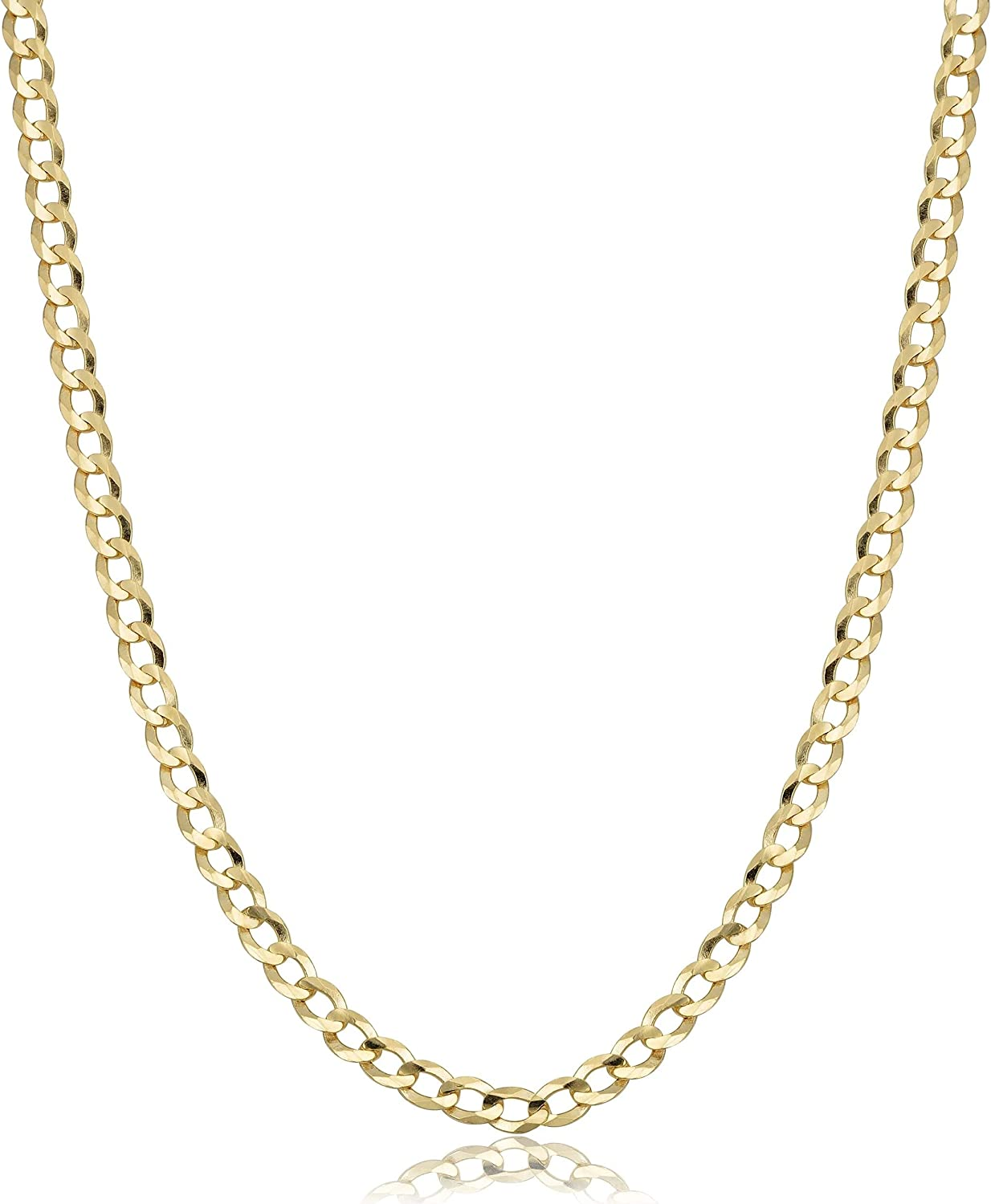 Verona Jewelers 10k Gold 4 5mm Italian Cuban Curb Link Necklace 10k Gold Necklaces 10k Cuban Necklace 10k Gold Curb Chain 10k Gold Chain 10k Link 16 2 5mm Amazon Com