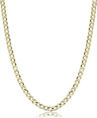 Verona Jewelers 10k Gold 4 5mm Italian Cuban Curb Link Necklace 10k Gold Necklaces 10k Cuban Necklace 10k Gold Curb Chain 10k Gold Chain 10k Link 16 2 5mm Amazon Com