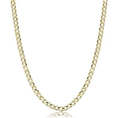 b2aa80d9bdf8c Verona Jewelers 10K Gold Unisex 2.2mm Italian Cuban Curb Link Chain  Necklace- 10K Necklaces, 10 Karat Gold Chain, 16