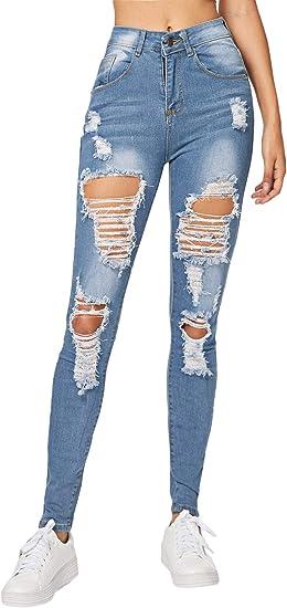 Milumia Jeans De Mezclilla De Cintura Media Para Mujer Amazon Com Mx Ropa Zapatos Y Accesorios